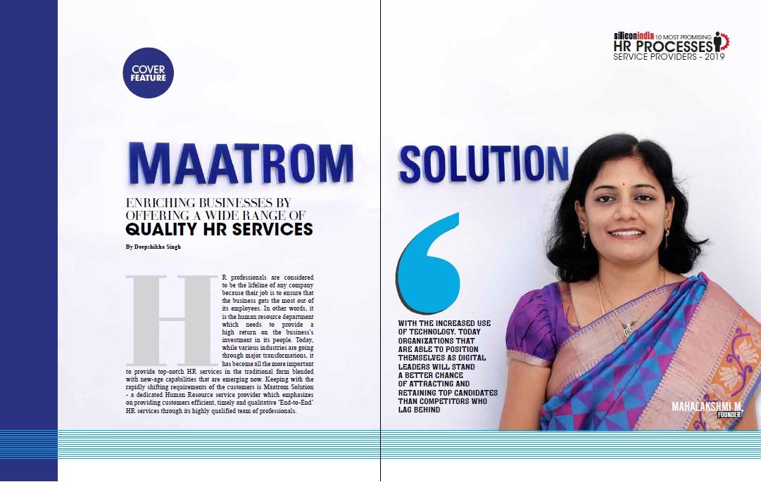 maatrom hr solution achievements