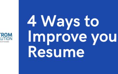 4 Ways to Improve your Resume